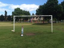 Park life. Lurking around goal Stock Images