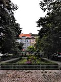 Park life in Prague city royalty free stock images