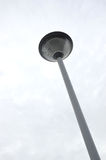 Park light poles. With white clouds and blue sky backgrounds Stock Image