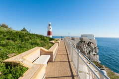 Park and Lighthouse in Gibraltar Royalty Free Stock Images