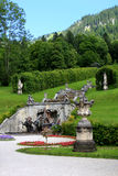 Park in Linderhof palace, Germany Royalty Free Stock Photos
