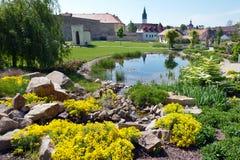 Park, Litomerice, Böhmen, Tschechische Republik Stockfotografie