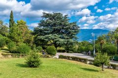 Park Livadia Palace in Yalta Stock Photos