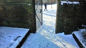 Park London subzero tempature freezing. London Park snow stock photos