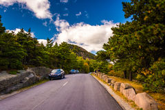 The Park Loop Road in Acadia National Park, Maine. Royalty Free Stock Image