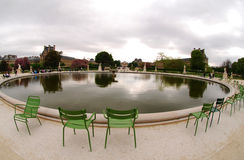 Park at the Louvre, France Royalty Free Stock Photography