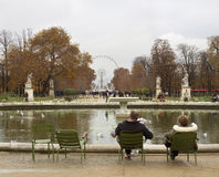 Park of  Louvre Museum. Royalty Free Stock Image