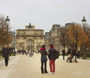 Park of  Louvre Museum. Royalty Free Stock Images