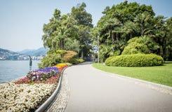 Park in Lugano royalty-vrije stock fotografie