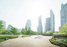 Park in lujiazui financial center, Shanghai Royalty Free Stock Photos