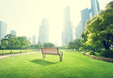 Park in  lujiazui financial centre Royalty Free Stock Photos