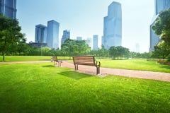 Park in  lujiazui financial centre, Shanghai Stock Photo