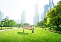 Park in  lujiazui financial centre, Shanghai Royalty Free Stock Image