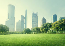 Park in  lujiazui financial centre, Shanghai Royalty Free Stock Photography