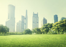 Park in  lujiazui financial centre, Shanghai Royalty Free Stock Photo