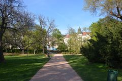 Park Luzanky of Brno in April/ royalty free stock photo