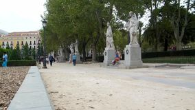 A park in Madrid stock video footage