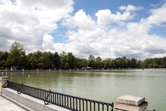 Park Madrid. View of the lake in a Park in Madrid, Spain stock images
