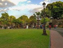 A park in Manila. stock images