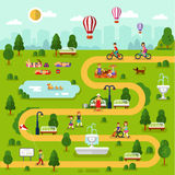 Park map Royalty Free Stock Image