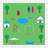 Park map icons vector pack Stock Images