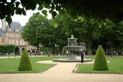 Park in the Marais district Stock Photography