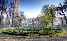 Park with maze Stock Photos