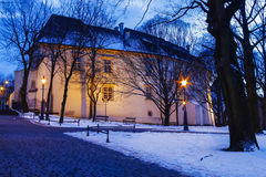 Park by the medieval castle, Wieliczka, Poland. Stock Images