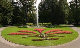 Park met fontein royalty-vrije stock fotografie