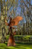 Park met multi-colored de lentebloemen Royalty-vrije Stock Fotografie
