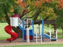 Park met speelplaats Royalty-vrije Stock Afbeeldingen