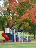 Park met speelplaats Stock Afbeelding