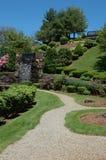 Park met waterval stock foto