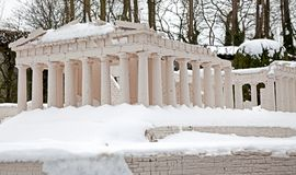 Snowy Akropola Royalty Free Stock Photo