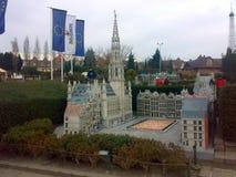 PARK MINI-EUROPE, BRUSSELS, BELGIUM - DECEMBER 25, 2007: Architectural models of famous buildings. PARK MINI-EUROPE, BRUSSELS, BELGIUM - DECEMBER 25, 2007 royalty free stock photos