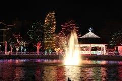 Park mit Leuchten Stockbild