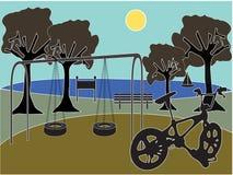 Park mit Spielplatz Lizenzfreie Stockbilder