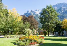 Park in Mittenwald Royalty Free Stock Image