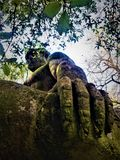 Park of the Monsters, Sacred Grove, Garden of Bomarzo. The Giant Hercules royalty free stock images