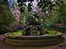 Park of Monsters, Sacred Grove, Garden of Bomarzo. Pegasus and nature stock photo