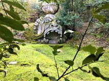 Park of the Monsters, Sacred Grove, Garden of Bomarzo. Proteus Glaucus and alchemy royalty free stock photography