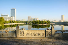 Park morning. Park landscape in morning in Taiyuan,Shanxi,China Stock Photography