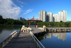Park. Morning in a park, Beijing Stock Photography
