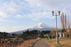 Park and Mount Fuji views. Stock Image