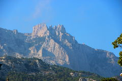 Park and the mountains near the Vorontsov Palace, Crimea. Stock Images