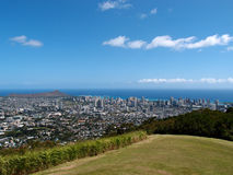Park in the mountains with view of Diamondhead and the city of H Stock Photography