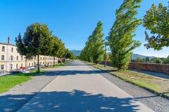 Park na miasto ścianie w Lucca Włochy obrazy stock