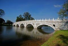park na most niebo kamienia drzewo Obraz Royalty Free
