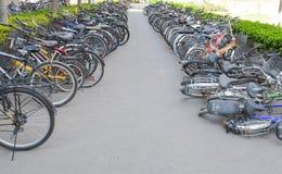 Park na stronie drogowy rower Obrazy Stock
