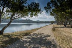 Park naast het water in Argostoli Kefalonia Royalty-vrije Stock Afbeelding